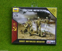 SOVIET MOTORISED INFANTRY 1/72 Zvezda Wargames Hot War set 7404