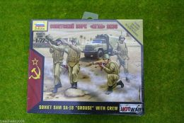 "SOVIET SAM SA-18 ""GROUSE"" with crew 1/72 Zvezda Wargames Hot War set 7412"