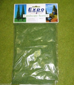 STATIC GRASS Value Bag 100g Landscape Scenics Light Green code 59135
