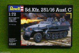 Sd.Kfz.251/16 Ausf C 1/72 Scale Revell Kit 3197