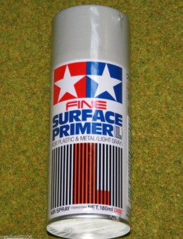 Tamiya ACRYLIC MATT FINE SURFACE PRIMER LIGHT GRAY Spray paint 87064