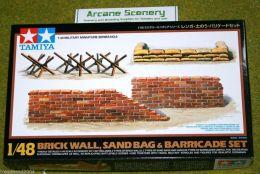 Tamiya BRICK WALL, SANDBAG & BARRICADE SET 1/48 Kit 32508
