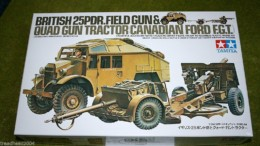 Tamiya BRITISH 25PDR FIELD GUN & QUAD GUN TRACTOR 1/35 Scale Kit 35044
