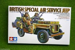 Tamiya BRITISH SPECIAL AIR SERVICE JEEP 1/35 Scale 35033