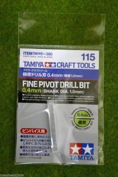 Tamiya Fine Pivot Drill Bit 0.4mm – Shank Dia. 1.00mm Modelling  Accessory 74115