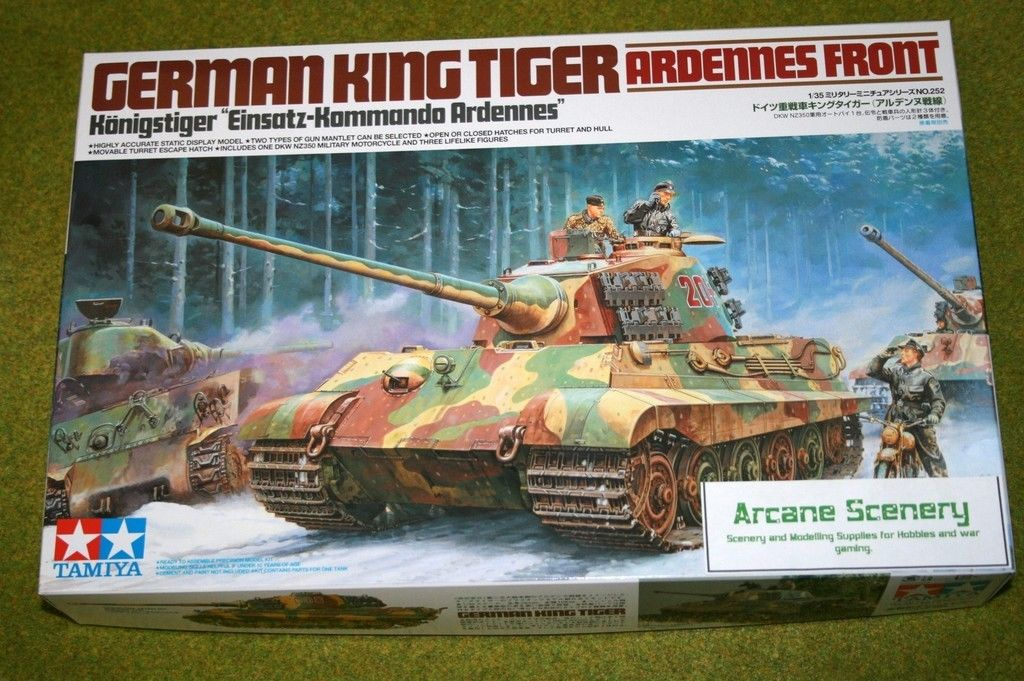 Tamiya german king tiger ardennes front 135 scale kit 35252 tamiya german king tiger ardennes front 135 scale kit 35252 publicscrutiny Gallery