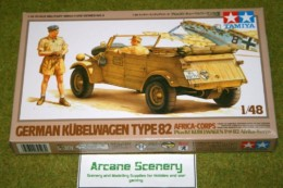 Tamiya GERMAN KUBELWAGEN TYPE 82 AFRICA KORPS 1/48 Scale Kit 32503