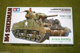 Tamiya U.S. M4 SHERMAN Medium Tank 1/35 Scale Kit 35190