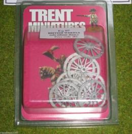 Trent Miniatures WHEELS – BRITISH SPOKED WHEELS Wargames 28mm Dia.