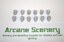 Trent Miniatures SEPARATE HEADS Cylindrical Bearskin Wargames EDZ#2 28mm