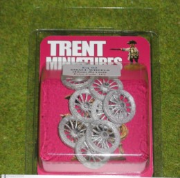 Trent Miniatures Wheels – SMALL SPOKED WHEELS Wargames 24mm Diameter
