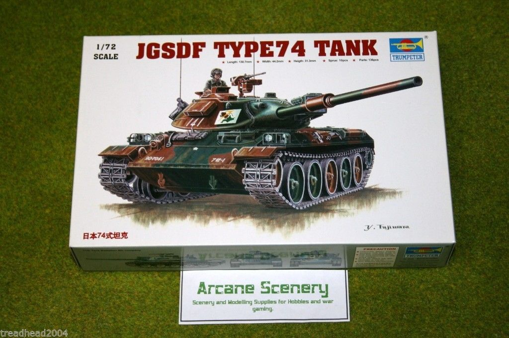 Trumpeter JGSDF TYPE 74 TANK 1/72 scale kit 7218