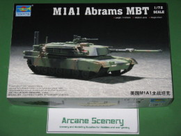 Trumpeter M1A1 ABRAMS MBT 1/72 scale 7276