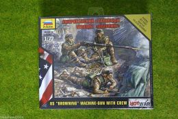 "U.S. ""BROWNING"" MACHINE GUN WITH CREW 1/72 Zvezda Wargames Hot War set 7414"