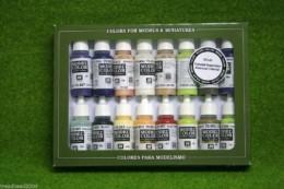 VALLEJO AMERICAN COLONIAL Model Colour 16 bottle set 70147