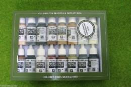 VALLEJO EQUESTRIAN COLOURS Model Colour 16 bottle set 70144