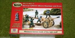 Valiant WW2 GERMAN LeFH18 105mm HOWITZER & CREW 1/72  set VM007
