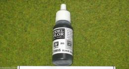 Vallejo Model Color BLACK GLAZE Acrylic Paint 70855