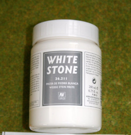 Vallejo WHITE STONE 200mls Stone Textures Scenery acrylic Medium 26211