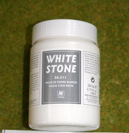 Vallejo WHITE STONE 200mls Stone Textures Scenery acrylic Medium 26211