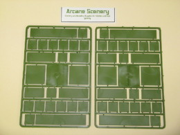 WAR GAMES SQUARE & RECTANGULAR 20mm BASES mixed SET 2