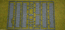 FENCES – WATTLE FENCING Renedra Wargames Terrain 28mm 1 FRAME SET