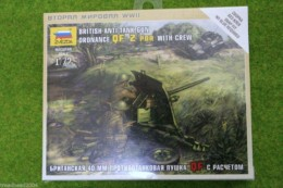 WWII British Anti Tank Gun QF 2 PDR with Crew 1/72 Zvezda Art of Tactic set 6169
