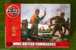 WWII British Commandos 1/72 Scale Airfix Figures A01732