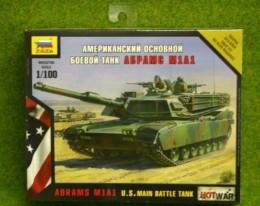 Zvezda ABRAMS M1A1 U.S. MAIN BATTLE TANK Hot War 1/100 scale 7405
