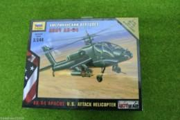 Zvezda AH -64 APACHE U.S. Attack Helicopter Hot War 1/144 scale 7408